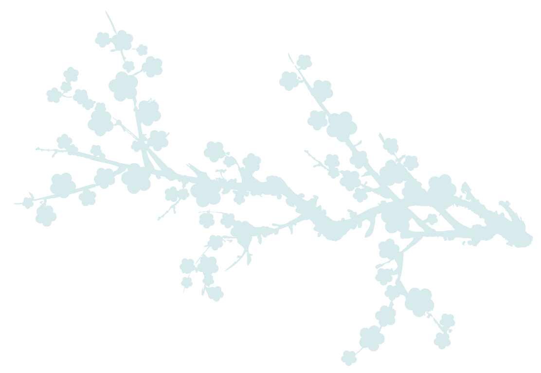 Bloesem-lichtblauw
